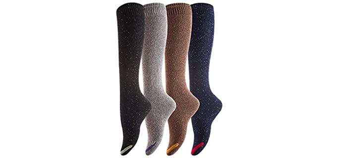 Henny Rue Women's Knee-High - Booties Socks