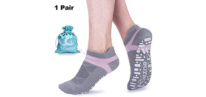 Muezna Women's Silica Grips - Best Socks for Zumba