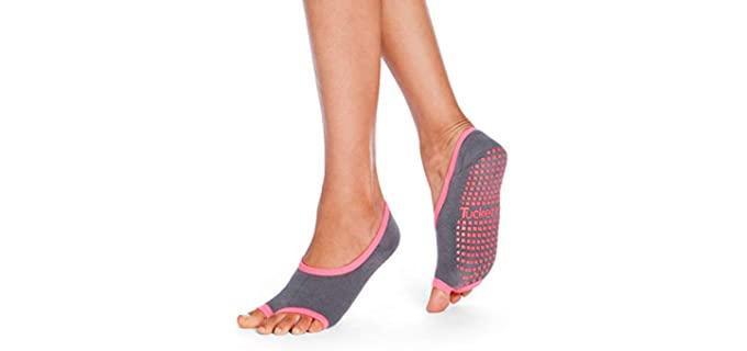 Tucketts Women's Toeless - Best Socks for Zumba