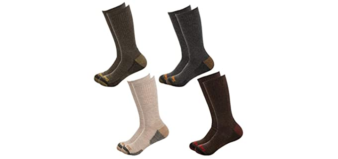 Timberland Men's Polyester - Quarter Socks For Cowboy Boots