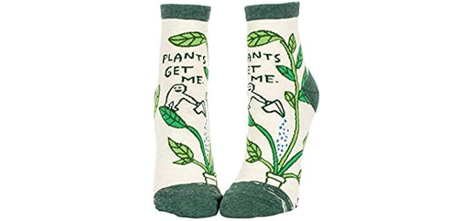Blue Q Women's Designer - Ankle Gardening Socks