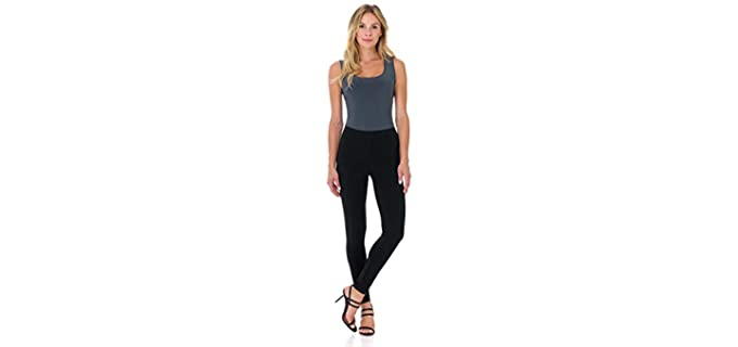 Rekucci Women's Slim and Chic - Blackout Petitie Leggings