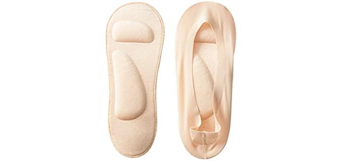 Jarseen Women's No Show - Heel Socks