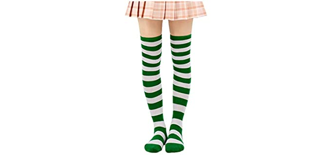 Dazcos Women's Old School Socks - Reinforced Retro Knee High Tube Socks