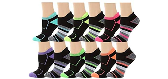 Apparelicious Women's Mesh - Cool Socks For Athlete's Foot