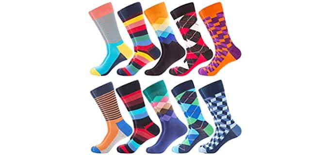 Bonangel Men's Art - Fun Pattern Socks For Men