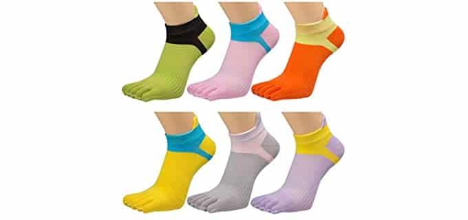honow Unisex Low Cut - Toe Socks for Running
