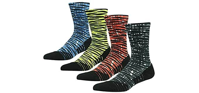 Huso Men's Digital Printed - Colored and Printed Dress Socks