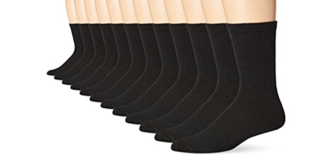 Hanes Unisex Fresh IQ - Thick Knee High Trail Running Socks