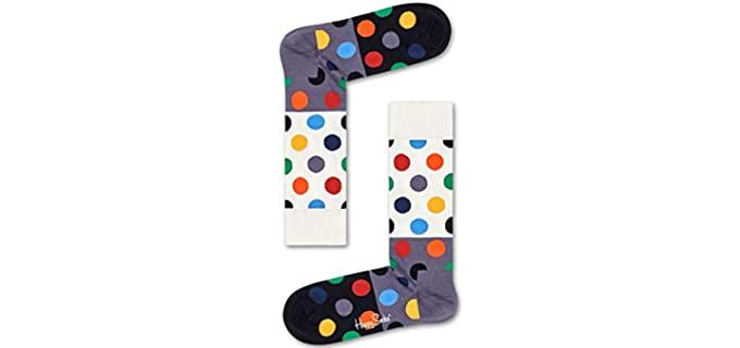 Happy Socks Men's Big Dot - Dress Socks in Colors