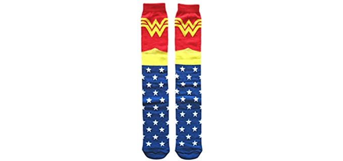 Hyp 's Superman - Athletic Thigh High Socks