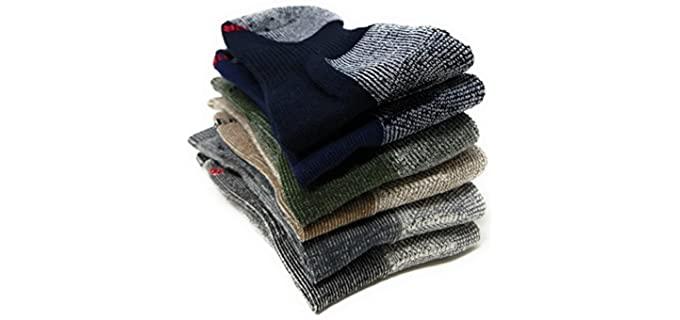 Sox Shop Men's Thermal Military Socks - Heavy Wool Military Combat Boot Socks