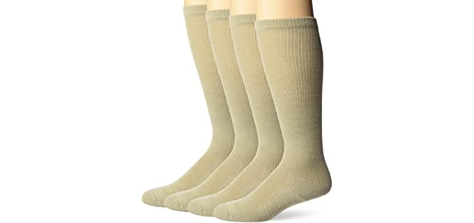 Jefferies Unisex Military Boot - Men and Womens Wide Calf Wool Socks