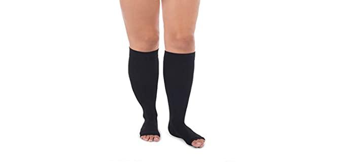 Jomi Unisex Compression - Wide Calf Knee High Socks