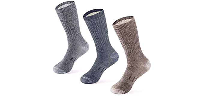 Meriwool Unisex Wool - Thick Wool Boot Socks