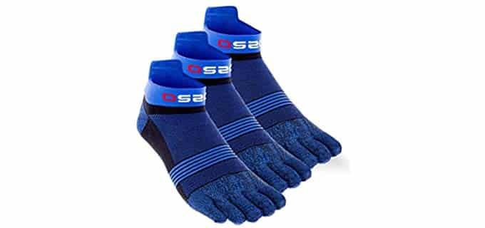 OS2O Unisex Run - Lightweight Toe Socks for Running