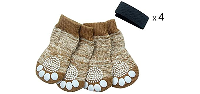 PUPTECK Dog's Indoor - Gripper Socks for Dogs