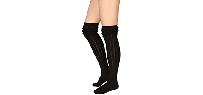 Stylegaga Unisex Winter - Thigh High Wool Blend Socks