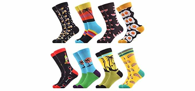 WeciBor Men's Colorful - Pattern Socks Pack For Men