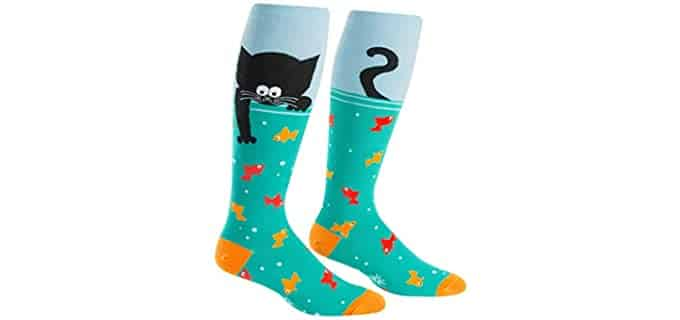 Sock It To Me Unisex Animals - Novelty Wide-Calf Socks For Men And Women