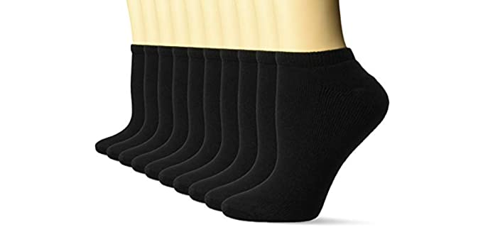 Amazon Essentials Women's No-Show - Cotton Dress Socks