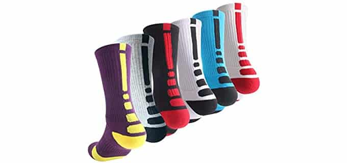 OLCHEE Boy's Athletic - Thick Basketball Socks