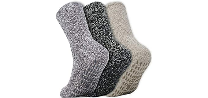 Daventry Unisex Ultra Thick - Fluffy Socks With Grips