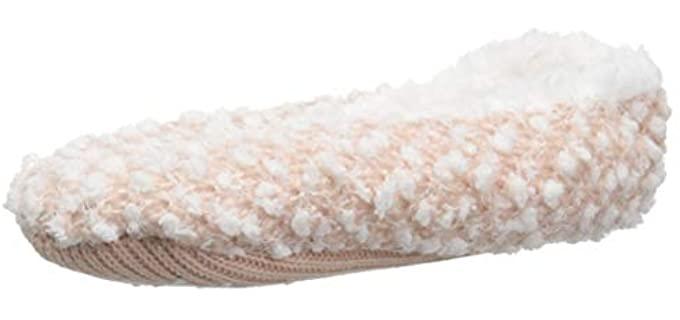Dearfoams Women's Cushioned - Sherpa Ballerina Slipper Socks