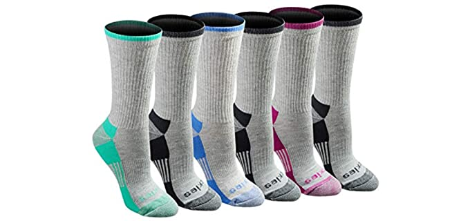 Dickies Women's Dritech - Advance Moisture Wicking Crew Socks