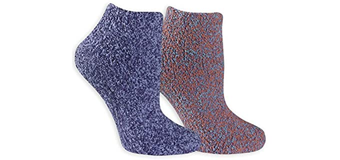 Dr. Scholl's Women's Soothing - Low Cut Lavender Socks