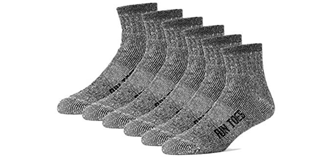 FUN TOES Unisex Cushioning - Merino Wool Ankle Socks