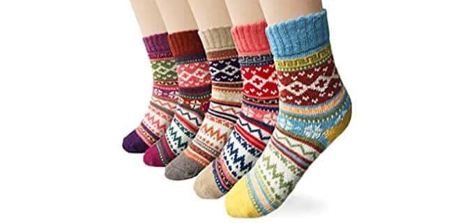 Loritta Women's Vintage - Woolen Winter Socks