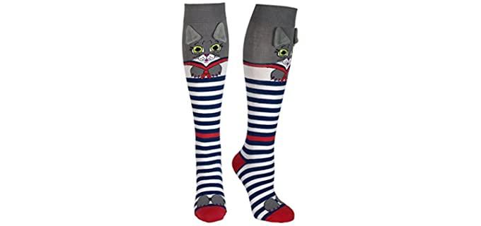 Moosh Walks Women's Fun 3D - Novelty Animals Socks