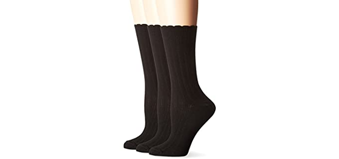 No Nonsense Women's Scallop Pointelle - Dress Socks for Women