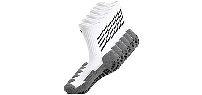 AnSun Unisex Anti-slip - Athletic Sports Socks