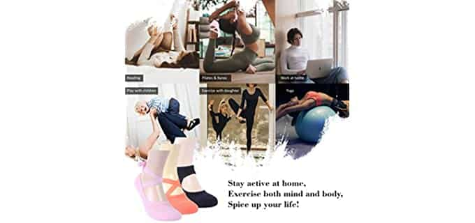 Ristake Women's Grip - Yoga Socks
