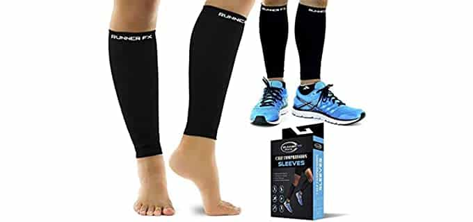 RUNNER FX SPORTS Unisex Pro Calf - Compression Sleeve