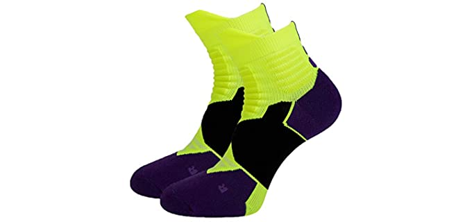 Toes&Feet Men's Cushioned - Basketball Socks