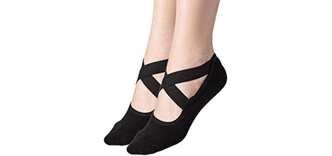 Toes&Feet Women's Black - Yoga Socks