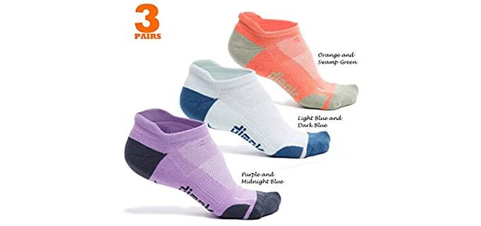 dimok Unisex Long Distance - Athletic Running Socks