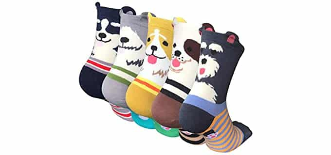 Chalier Women's Patterned - Cute Animal Socks