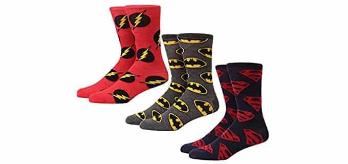 Hypnotic Hats Men's Comic - DC Superhero Socks
