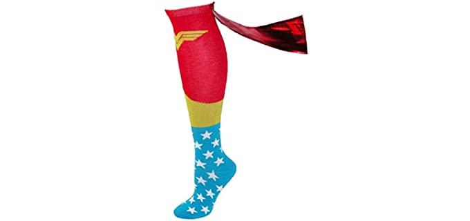 Bioworld Women's Cape - Shiny Superhero Dress Socks