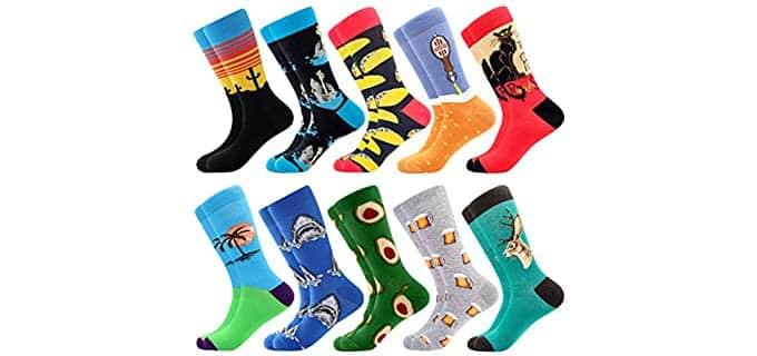BONANGEL Men's Casual - Colorful Novelty Socks