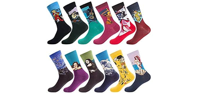 Men Men's Patterned - Fun Dress Socks