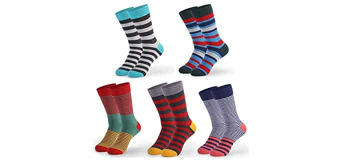 RATHERBE Men's Colorful - Patterned Socks