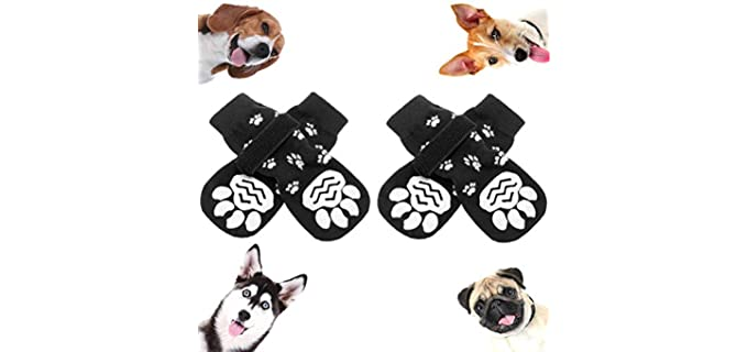 SCENEREAL Dog's Anti-Slip - Dog Socks with Grippers