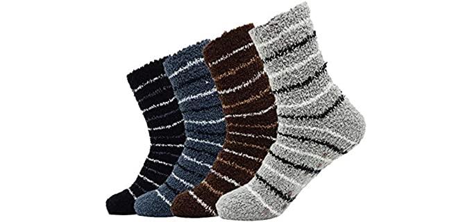 Bienvenu Men's Thick - Fuzzy Winter Socks