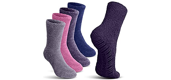 TruTread Unisex Hospital - Fuzzy Crew Socks