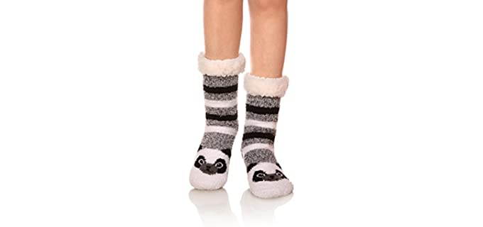 MQELONG Women's Soft - Fuzzy Animal Socks